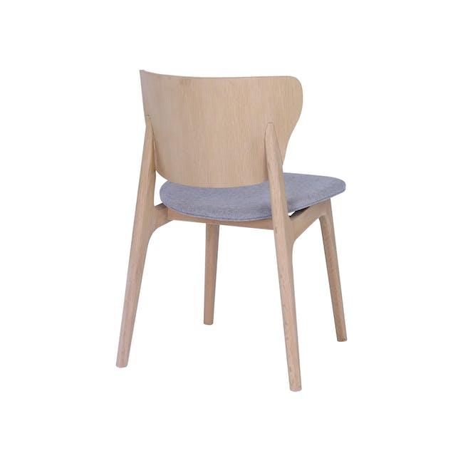 Fabiola Dining Chair - Squirrel Grey, Oak - 3