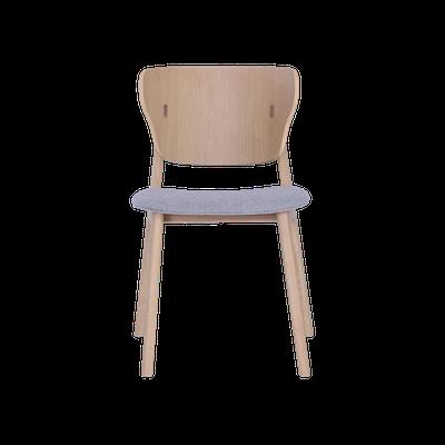 Fabiola Dining Chair - Squirrel Grey, Oak - Image 2