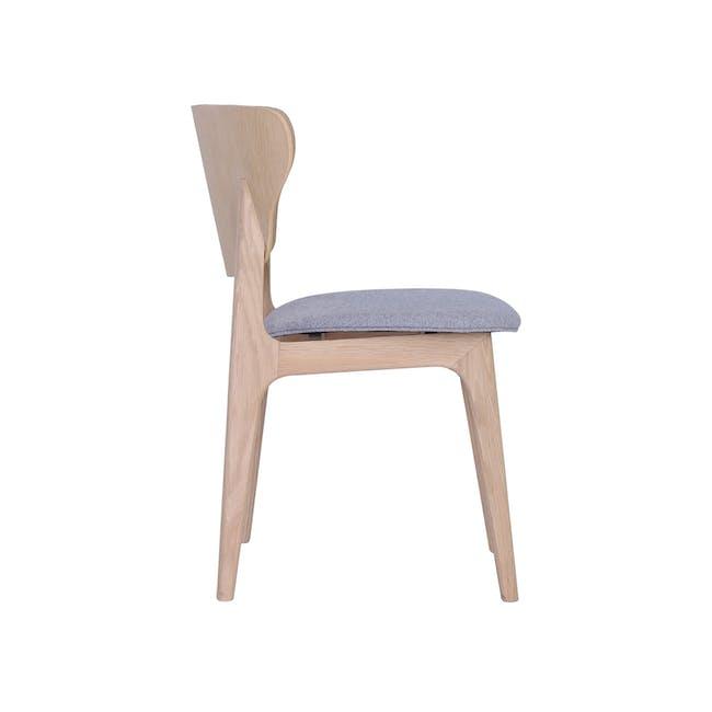 Fabiola Dining Chair - Squirrel Grey, Oak - 2
