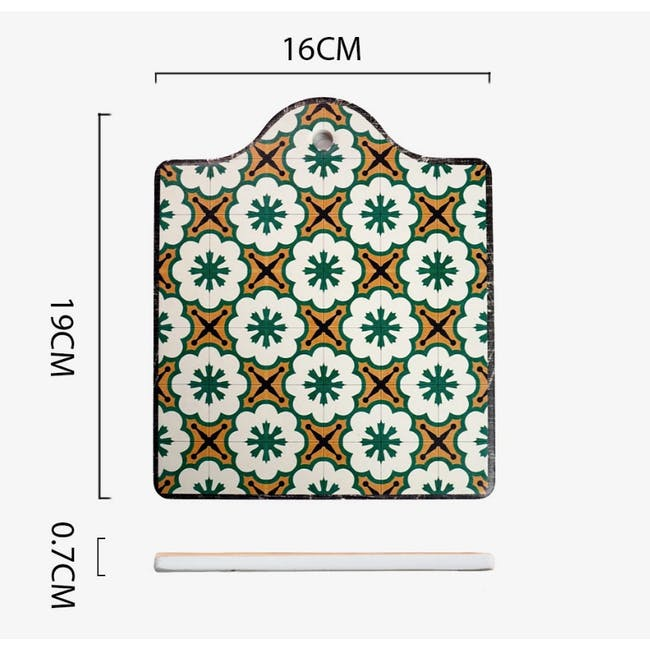 Peranakan Ceramic Pot Coaster - Rue - 3