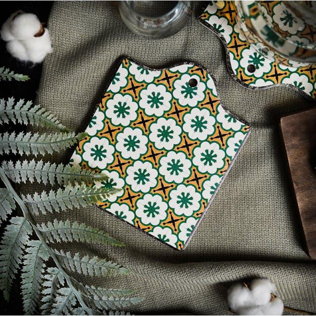 Peranakan Ceramic Pot Coaster - Rue - 1