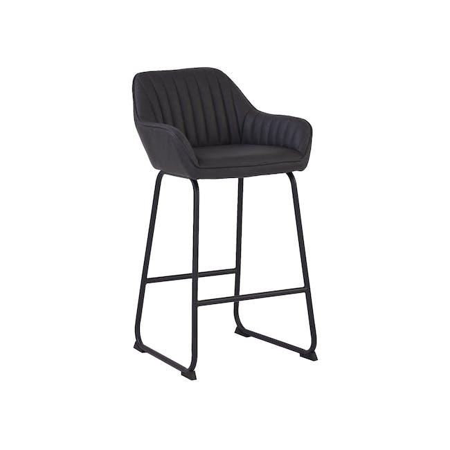 Edson Counter Chair - Titanium (Faux Leather) - 0