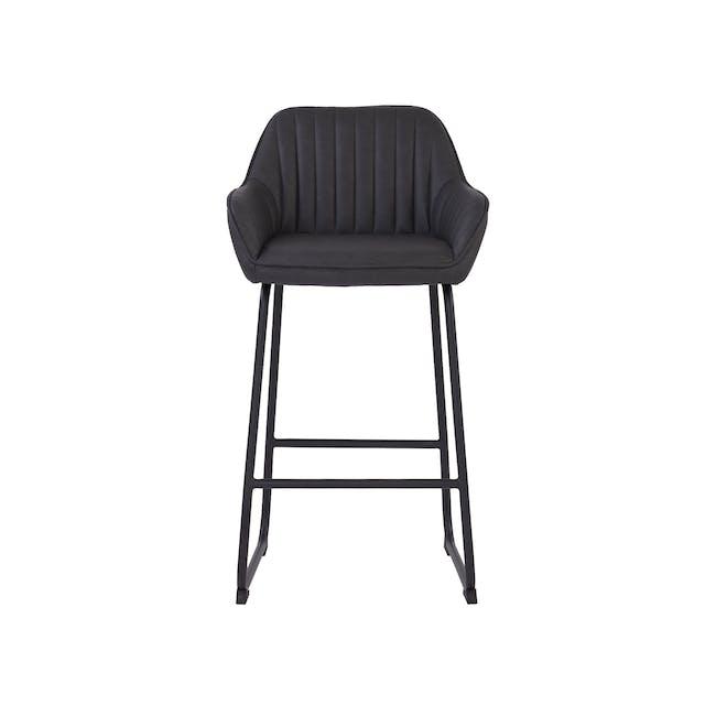 Edson Counter Chair - Titanium (Faux Leather) - 2