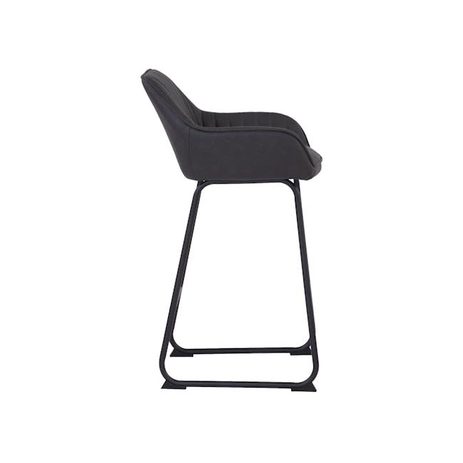 Edson Counter Chair - Titanium (Faux Leather) - 3