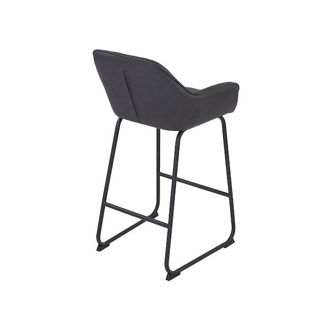Edson Counter Chair - Titanium (Faux Leather) - 4