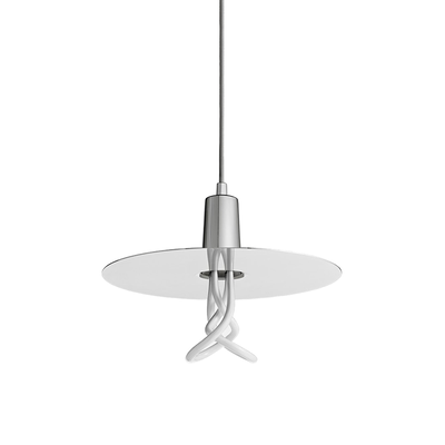 Plumen Drop Hat Pendant & Light Bulb Set - Chrome - Image 2