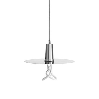 Plumen Drop Hat Pendant & Light Bulb Set - Chrome - Image 1