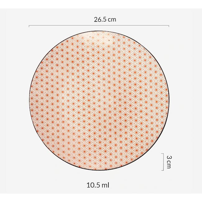 Table Matters Starry Red Plate (3 Sizes) - 3