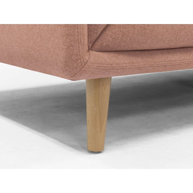 Audrey 3 Seater Sofa with Audrey Armchair - Blush - 5