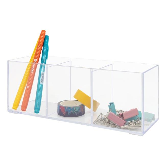 Nakabayashi Acrylic Holder - 3 Compartments - 1