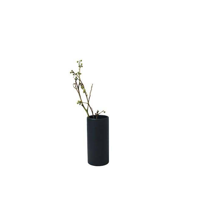 Nordic Matte Vase Small Straight Cylinder - Matte Black - 0