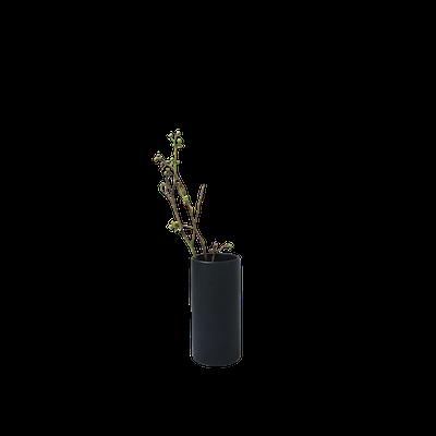 Nordic Matte Vase Small Straight Cylinder - Matte Black - Image 1