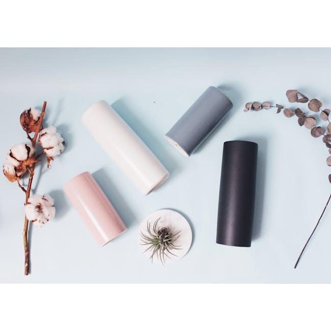 Nordic Matte Vase Small Straight Cylinder - Matte Black - 1