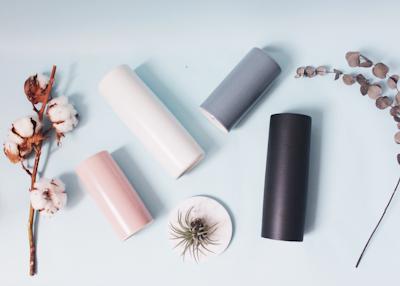Nordic Matte Vase Small Straight Cylinder - Matte Black - Image 2