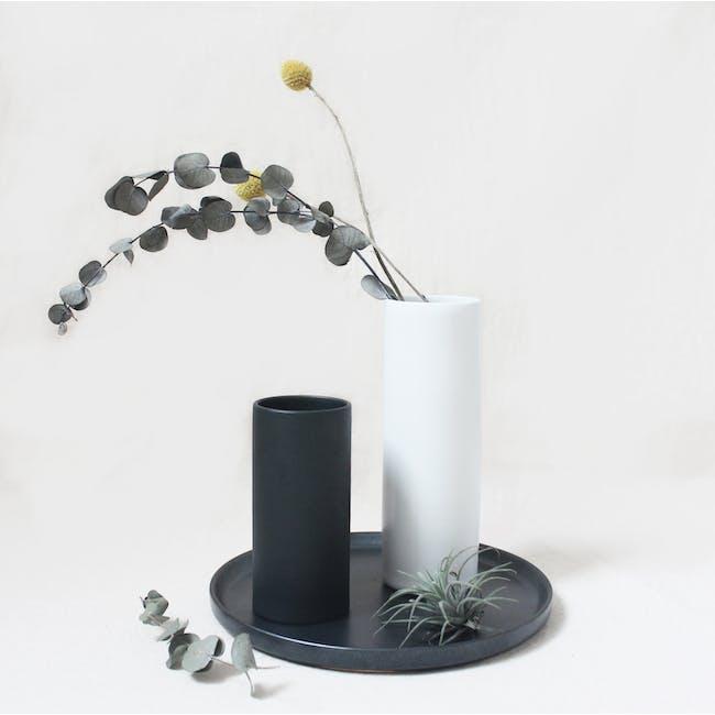 Nordic Matte Vase Small Straight Cylinder - Matte Black - 4