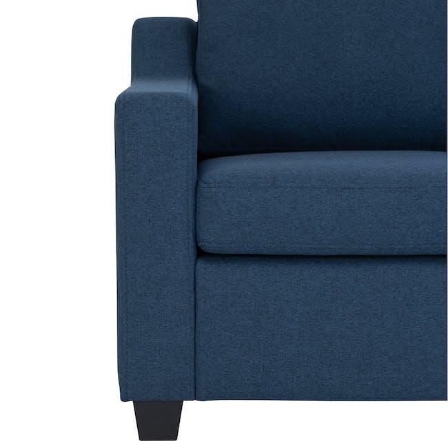 Baleno 3 Seater Sofa - Yale Blue (Fabric) - 4