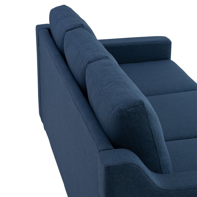 Baleno 3 Seater Sofa - Yale Blue (Fabric) - 6