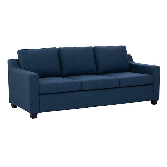 Baleno 3 Seater Sofa - Yale Blue (Fabric) - 1