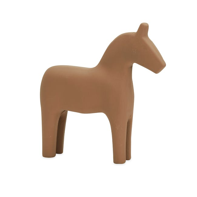 Molly Wooden Horse - Brown - 0