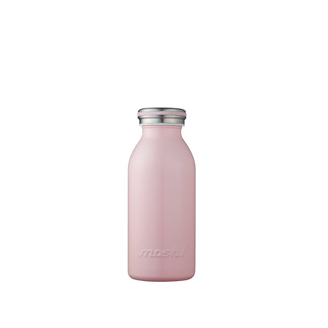 MOSH! Double-walled Stainless Steel Bottle 350ml - Peach - 0