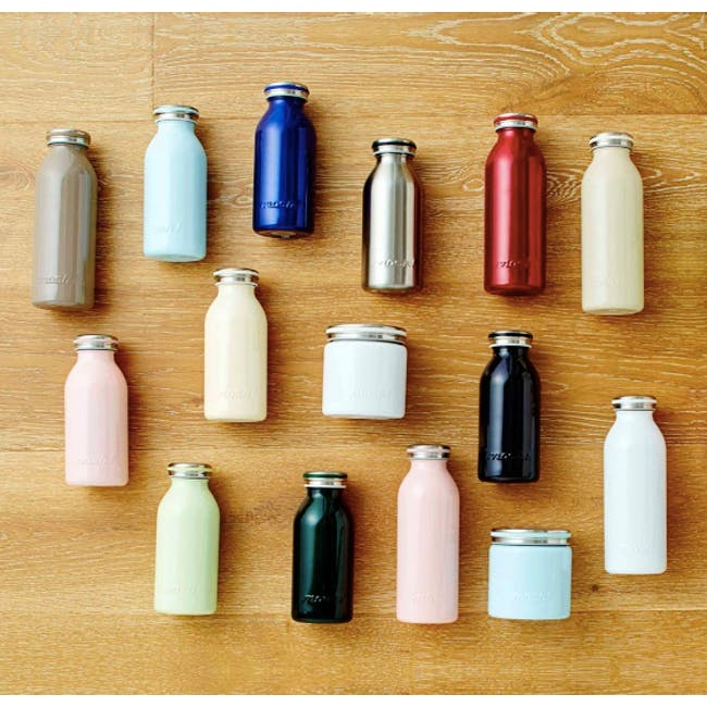 MOSH! Double-walled Stainless Steel Bottle 350ml - Peach - 3