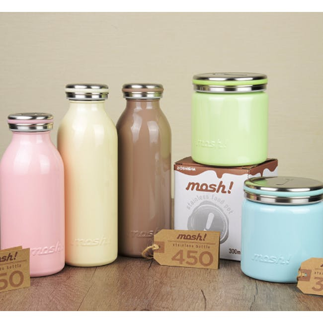 MOSH! Double-walled Stainless Steel Bottle 350ml - Peach - 1