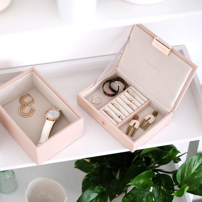 Stackers 2-in-1 Mini Jewellery Box - Blush - 1