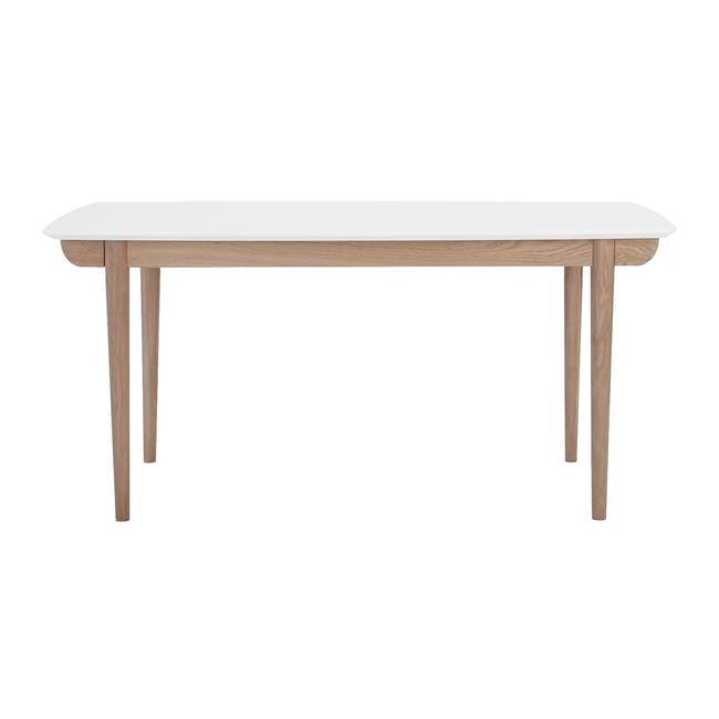 Larisa Dining Table 1.6m with 4 Ladee Chairs in Sand and Pale Silver - 1