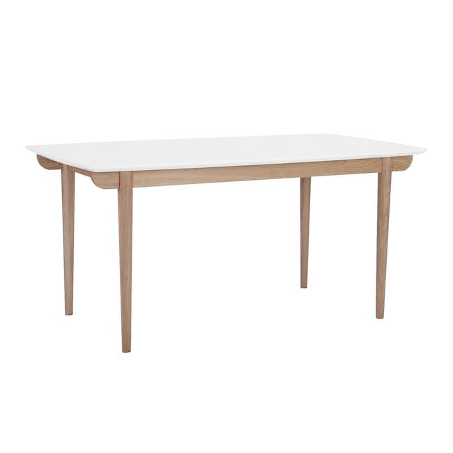 Larisa Dining Table 1.6m with 4 Ladee Chairs in Sand and Pale Silver - 2