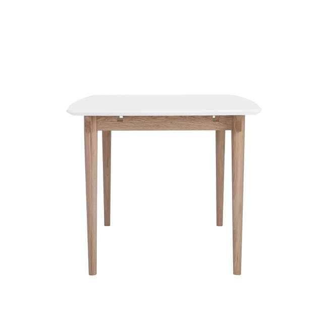 Larisa Dining Table 1.6m with 4 Ladee Chairs in Sand and Pale Silver - 3