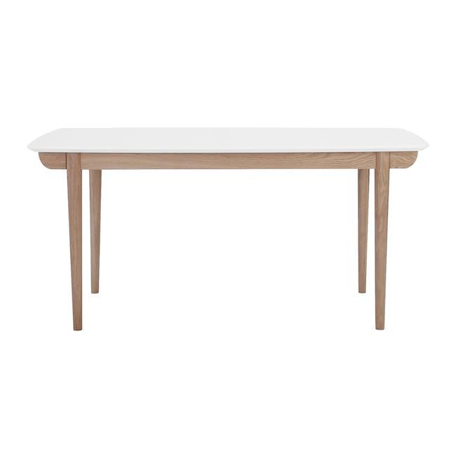 Larisa Dining Table 1.6m - White, Oak - 0