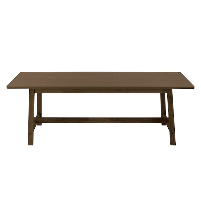 Haynes Dining Table 2.2m with 4 Riley Dining Chairs in Dark Grey - 2