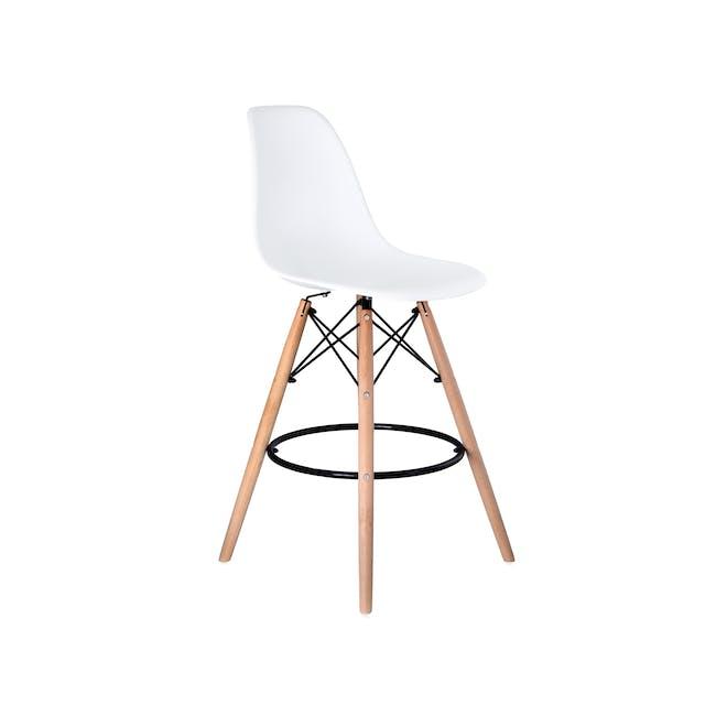 DSW Low Bar Chair Replica - White - 0