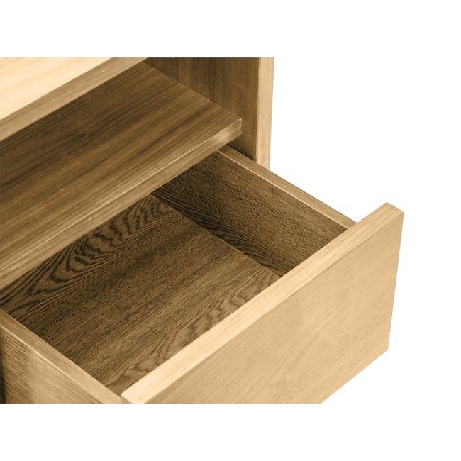 Kyoto Bottom Drawer Bedside Table - Oak - 4