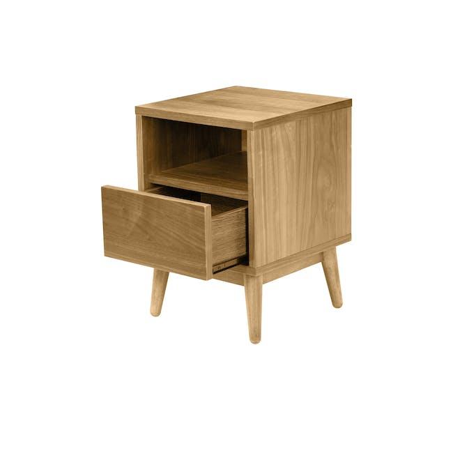 Kyoto Bottom Drawer Bedside Table - Oak - 2