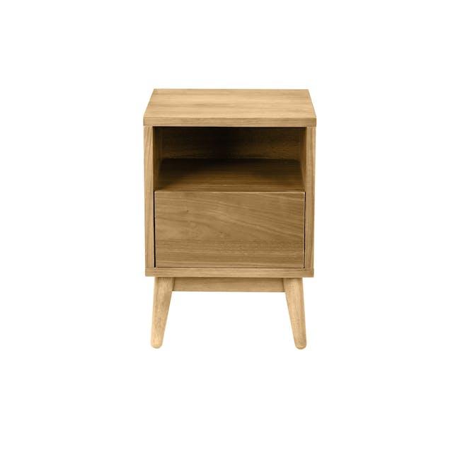 Kyoto Bottom Drawer Bedside Table - Oak - 0