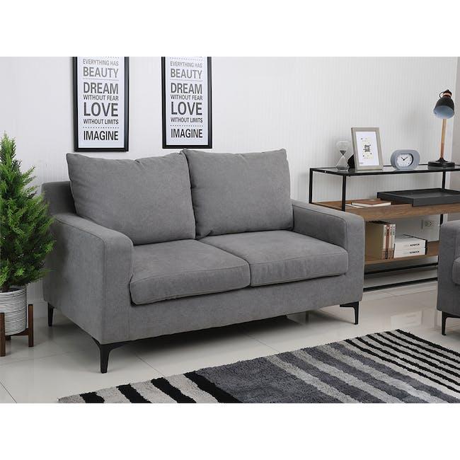 Viva 2 Seater Sofa - Light Grey - 1