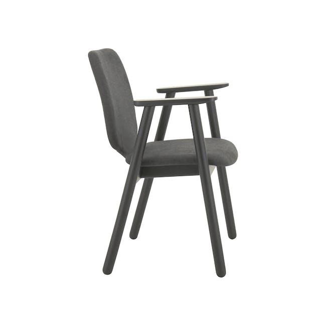 Missie Dining Armchair - Black, Dark Grey - 1