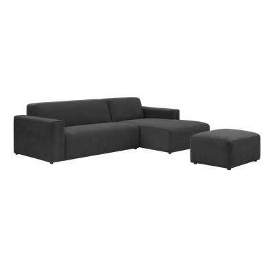 Adam L Shape Sofa and Adam Ottoman - Granite - Image 1