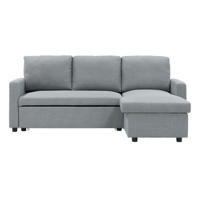 (As-is) Mia L Shape Sofa Bed with Storage - Slate - 2 - Image 1