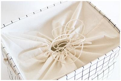 Beverley Drawstring Laundry Basket - Image 2
