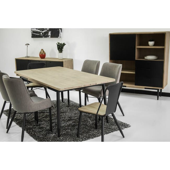 Ryland Concrete Dining Table 1.6m and 4 Starck Dining Chairs - 14