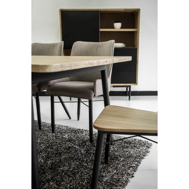 Ryland Concrete Dining Table 1.6m and 4 Starck Dining Chairs - 15