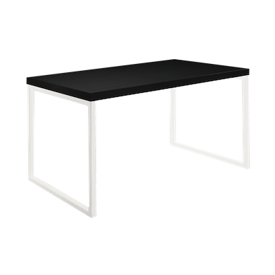 Brent Dining Table 1.2m - Black, White - Image 2
