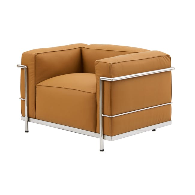 LC3 Armchair Replica - Tan (Genuine Cowhide) - 1