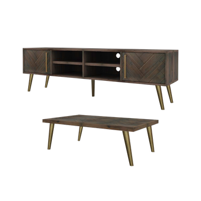 Cadencia TV Console 2m with Cadencia Coffee Table - Image 1