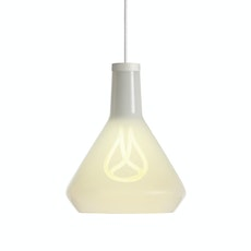 Plumen 001 Bulb + White Drop Cap + White Lamp Shade