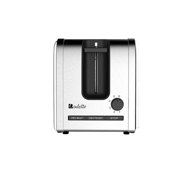 Odette Deauville 2-Slice Bread Toaster - Polished Stainless Steel - 3