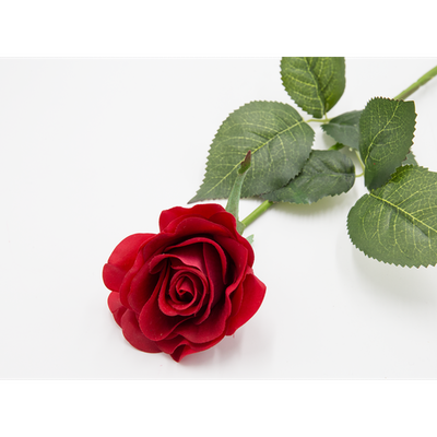Faux Rose Stem - Red - Image 2