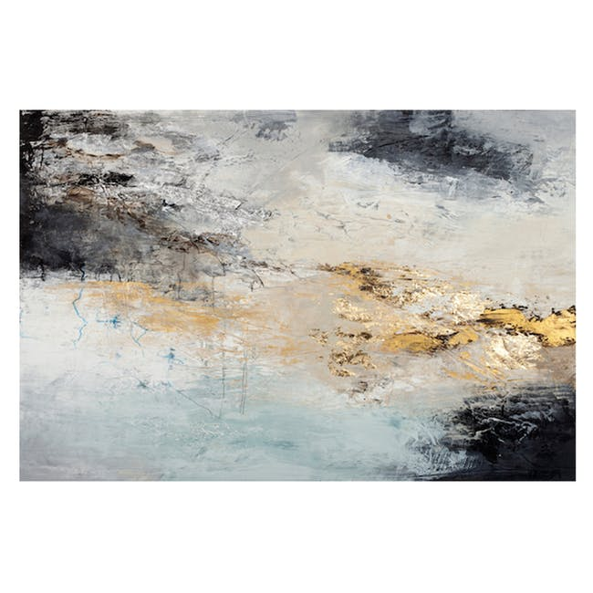 Abstract Acrylic Painting 150cm by 118cm - BlancheGold - 0